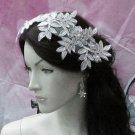 Floral Lace Wedding Headpiece;Ivory Floral Bridal Tiara ; Bride Headpiec#14