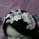 French Lace Wedding Headpiece;Ivory Floral Bridal Tiara ; Bride Headpiece#6
