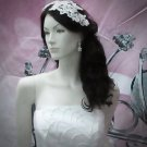 French Lace Wedding Headpiece;Ivory Floral Bridal Tiara ; Bride Headpiece#4