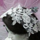 French Lace Wedding Headpiece;Ivory Floral Bridal Tiara ; Bride Headpiece#1