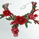 French Lace Wedding Necklace;Floral Bridal Accessories;Bride Jewelry Embroidery necklace 3