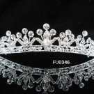 Elegance Peacock Crystal Bridal Tiara ; Silver Rhinestone Wedding Headpiece ;Wedding headband#346