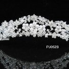 Elegance Sparkle Crystal Bridal Tiara ; Silver Rhinestone Wedding Headpiece;Pink bride tiara#523