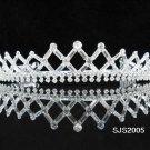 Crystal Bugle Bridal Tiara;Silver Rhinestone vintage Wedding Headpiece;bride Hair accessories#2005