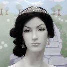 Elegance Bridal Tiara;Silver Rhinestone Wedding Headband;bride Hair accessories#7274