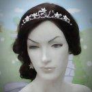 Elegance Bridal Tiara;Silver Rhinestone Wedding Headpiece;bride Hair accessories #4724