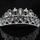 Bridal Tiara;Silver Rhinestone Wedding Headband;Filigree Headpiece;bride Hair accessories #87