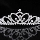 Bridal Tiara;Silver Rhinestone Wedding Headband;Filigree Headpiece;bride Hair accessories #291