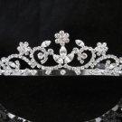 Bridal Tiara;Silver Rhinestone Wedding Headband;Sweetheart Headpiece;bride Hair accessories #294