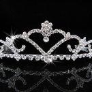 Bridal Tiara;Silver Rhinestone Wedding Headband;Sweetheart Headpiece;bride Hair accessories #554