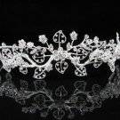 Bridal Tiara;Silver Rhinestone Wedding Headband;Fancy Alloy Headpiece;bride Hair accessories #1321