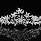 Bridal Tiara;Silver Rhinestone Wedding Headband;Fancy Alloy Headpiece;bride Hair accessories #1324