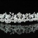 Bridal Tiara;Silver Rhinestone Wedding Headband;Fancy Daisy Headpiece;bride Hair accessories #1337
