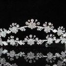 Bridal Tiara;Silver Rhinestone Wedding Headband;Fancy Daisy Headpiece;bride Hair accessories #1339