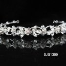 Bridal Tiara;Silver Rhinestone Wedding Headband;Fancy Daisy Headpiece;bride Hair accessories #1350