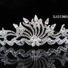 Bridal Tiara;Silver Rhinestone Wedding Headband;Fancy Huge Headpiece;bride Hair accessories #1360