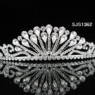 Bridal Tiara;Silver Rhinestone Wedding Headband;Fancy Huge Headpiece;bride Hair accessories #1362