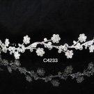 Bridal Tiara;Silver Rhinestone Wedding Floral Headband;Fancy Headpiece;bride Hair accessories#4233