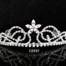 Bridal Tiara;Silver Rhinestone Wedding Floral Headband;Fancy Headpiece;bride Hair accessories#2237