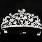Bridal Tiara;Silver Rhinestone Wedding Headband;Fancy Headpiece;bride Hair accessories#3236