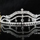 Bridal Tiara;Silver Rhinestone Wedding Headband;Fancy Headpiece;bride Hair accessories#4190