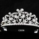 Bridal Tiara;Silver Rhinestone Bride Wedding Headpiece ;Fancy Headpiece;bride Hair accessories#3236