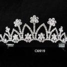 Bridal Tiara;Silver Pearl Rhinestone Wedding Headpiece ;Fancy Headpiece;bride Hair accessories#6919
