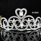 Bridal Tiara;Alloy Silver Rhinestone Wedding Tiara;Fancy Huge Headpiece;bride Hair accessories#893