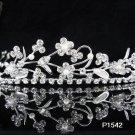 Bridal Tiara;Silver Rhinestone Wedding Headband;Fancy Huge Headpiece;bride Hair accessories#1542