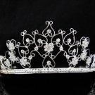 Bridal Tiara;Silver Rhinestone Wedding Headband;Fancy Huge Headpiece;bride Hair accessories#10087