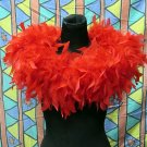 70g Feather Fringe Shawl;Coque Rooster fluffy stole; thick Marabou feather boa wrap#4