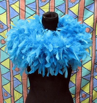 50g Feather Fringe Shawl;Coque Rooster fluffy stole; thick Marabou feather boa wrap#6