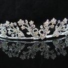 Floral Bridal Tiara;Silver Crystal Rhinestone Wedding Headband ;bride Hair accessories#1353