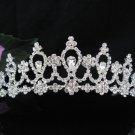Elegance Bridal Tiara;Silver Crystal Rhinestone Wedding Headband ;bride Hair accessories#1369