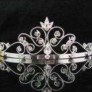 Bride Hair accessories ;Elegance Bridal Tiara;Silver Crystal Rhinestone Wedding Headband#9190