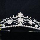Bride Hair accessories ;Elegance Bridal Tiara;Floral Silver Crystal Rhinestone Wedding Headband#311
