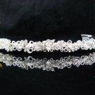 Bride Hair accessories ;Elegance Bridal Tiara;Silver Rhinestone Butterfly Wedding Headband#696s