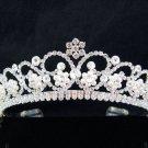 Bride Hair accessories ;Elegance Bridal Tiara;Fancy Silver Rhinestone Floral Wedding Headband#790s