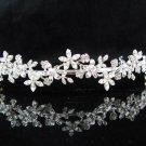 Bride Hair accessories ;Elegance Bridal Tiara;Silver Rhinestone Alloy Floral Wedding Headband#4735