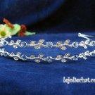 Silver Rhinestone Twin Vine Alloy Wedding Headband;Bride Hair accessories;Fancy Bridal Tiara#534bl