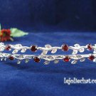 Silver Rhinestone Twin Vine Alloy Wedding Headband;Bride Hair accessories;Fancy Bridal Tiara#534r