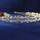 Silver Rhinestone Twin Vine Alloy Wedding Headband;Bride Hair accessories;Fancy Bridal Tiara#534g