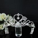 Rhinestone Wedding Tiara;Bride Hair accessories;Fancy Silver Crystal Bridal Tiara#029
