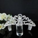 Rhinestone Wedding Tiara;Bride Hair accessories;Fancy Silver Crystal Bridal Tiara#574