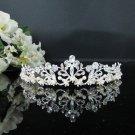 Rhinestone Wedding Tiara;Bride Hair accessories;Fancy Silver Crystal Bridal Tiara#866