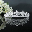 Fancy Silver Crystal Bridal Tiara;Rhinestone Wedding Tiara;Bride Hair accessories#2059