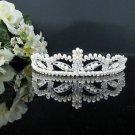 Rhinestone Wedding Tiara;Fancy Silver Crystal Bridal Tiara;Bride Hair accessories#1173