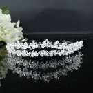 Rhinestone Wedding Tiara;Fancy Silver Crystal Bridal Tiara;Bride Hair accessories#3712