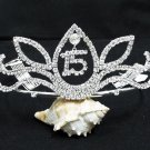 15 or 16 Birthday Tiara;Silver Sweetheart Crystal Occasion Tiara;Fashion Hair accessories#6930