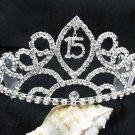 Silver Sweetheart Crystal Occasion Tiara;Huge 15 or 16 Birthday Tiara;Fashion Hair accessories#8957